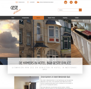 websitebouw websdesign hotel Westende geste de A'lice