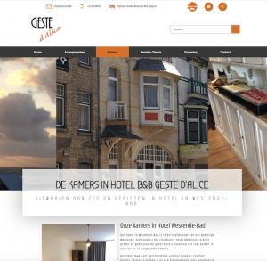 websitebouw websdesign hotel Westende geste de A'lice