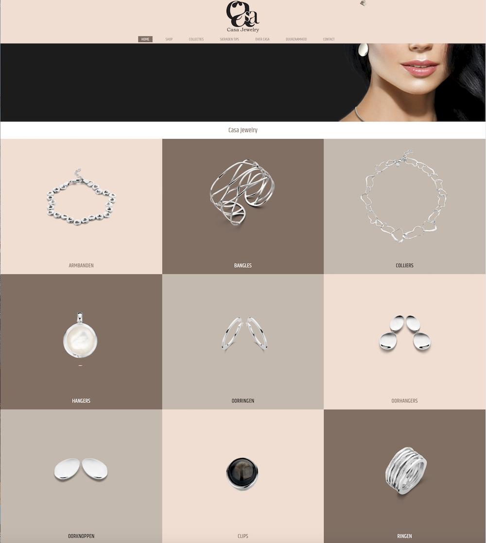 Webshop Casa Jewelry zilveren sieraden