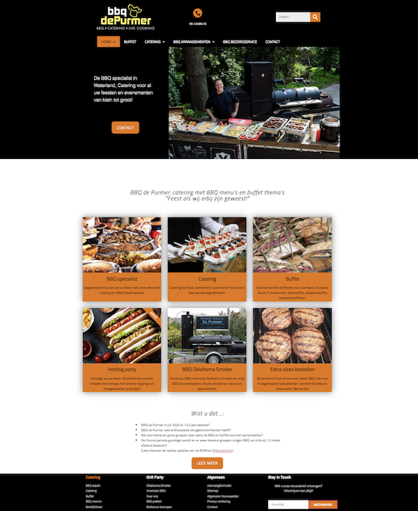 Wordpress website door wwXL voor BBQ de Purmer