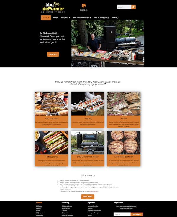 Wordpress website door wwXL voor BBQ de Purmer