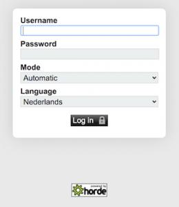Inloggen webmail via Horde
